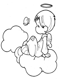 angel color pages kids page angel coloring pages