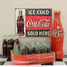 coca cola ice cold here metal sign vintage style kitchen decor