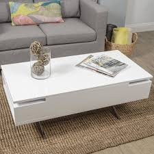 Flip Top Coffee Table by Amazon Com Stelar White Lacquer Lift Top Rectangular Coffee Table