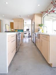 Wide Galley Kitchen Galley Kitchen Ideas For A Transitional Kitchen With A Bright