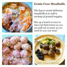 grain free meatballs grated veggies are the perfect alternative