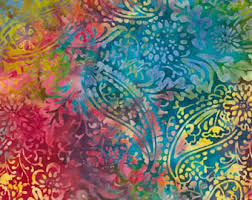 blue batik fabric etsy