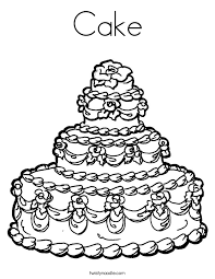 pictures cake coloring page 66 in free colouring pages with cake