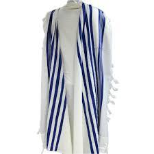 prayer shawls from israel wool tallit in blue stripes classic israel prayer shawl tallit