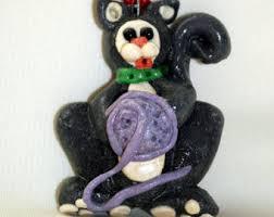 black cat ornament etsy