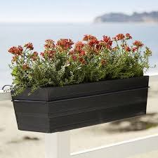 Rail Hanging Planters by 10 Easy Pieces Black Balcony Box Planters Gardenista
