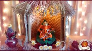 Home Temple Decoration Ideas Virendra Nagarkar Home Ganpati Decoration Video U0026 Ideas Www