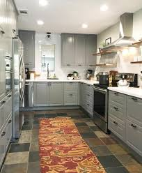 bodbyn grey ikea kitchen white quartz countertops white subway