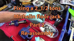 Sears Hydraulic Jack Parts by Michelin 2 1 2 Tons Floor Jack Repair Part 2 Re Assembly Youtube
