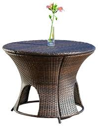 Patio Storage Ottoman Wicker Patio Storage Amazing Collection In Outdoor Storage Ottoman