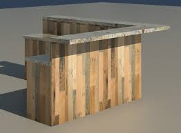 L Shape Reception Desk Reclaimed 3d Models And Textures Turbosquid Church Check