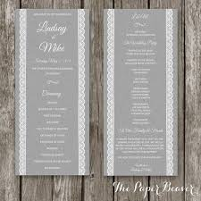 sided wedding programs 23 best the paper beaver wedding invitations images on