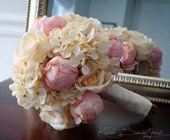 Shabby Chic Wedding Bouquets by Shabby Chic Wedding Bouquet Peony Rose And Hydrangea Ivory And