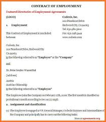 100 sample employment agreement template employment agency
