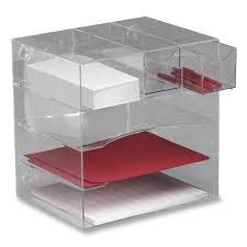 Desk Organizer Drawer Rubbermaid Optimizer Four Way Organizer With Drawers 1 Each