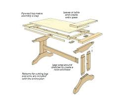 making a trestle table diy pedestal trestle dining table younited co