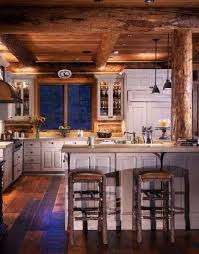 Rustic Painted Kitchen Cabinets by Best 25 Log Cabin Kitchens Ideas On Pinterest Log Cabin Siding