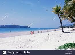 white sand beach pantai cenang langkawi malaysia stock photo