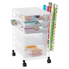 wrapping paper station white elfa gift wrap organizer the container store