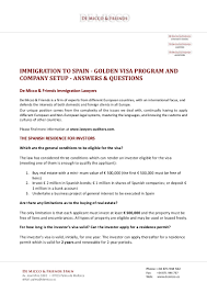 new regulations 2015 immigration to spain golden visa program com u2026