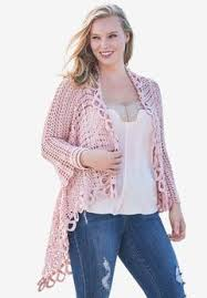 plus size cable knit sweater plus size cardigans for roaman s