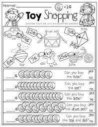 toy shopping counting pennies and comparing numbers kinderland