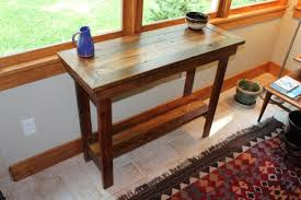 Narrow Entry Table by Rustic Reclaimed Barnwood Entryway Table Side Table Console