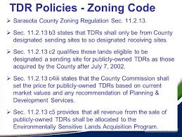sarasota county zoning map transfer of development rights policy ppt