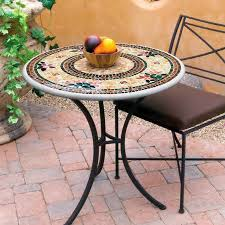 Mosaic Patio Furniture by Knf Garden Designs Knf Mosaic Bistro Table 30