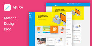 templates blogger material design akira material design blog template best web design trends 2016