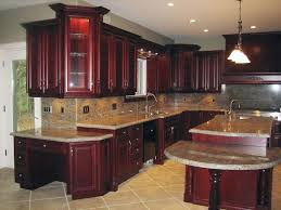 kitchen pictures cherry cabinets startling dark cherry cabinets wood kitchen with back splashes