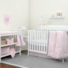 Pink And Gray Nursery Bedding Sets by Nojo The Dreamer Collection Floral Pink Grey 8 Piece Crib Bedding