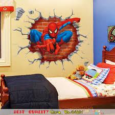 aliexpress com buy 45 50cm 3d spiderman wall paper paste craft