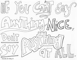 no bullying coloring pages classroom doodles
