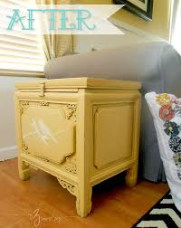 Yellow Side Table My 3 Monsters Stenciled Side Table Makeover
