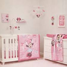 Minnie Crib Bedding Set 4 Minnie Mouse All About The Bows Crib Bedding Set 311170233