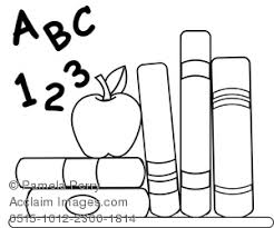 School Books Coloring Page Clipart Stock Photography Acclaim Books Coloring Page