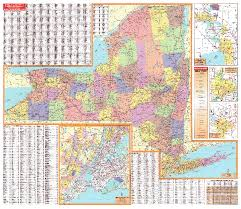 Counties In Ny State Map York Wall Maps National Geographic Maps Map Quest Rand