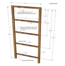 ana white henry bookshelf diy projects