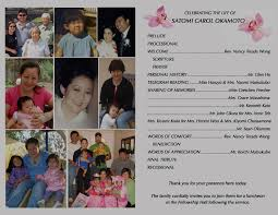 program for funeral service funeral service program satomi s cancer