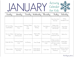 31 january activities u0026 crafts for kids free activity calendar