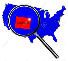 State Flag Of Colorado Colorado State Outline Inset Set Into A Map Of The United States