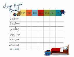 Clean Bedroom Checklist 9 Best Images Of Bedroom Cleaning Chart Kids Clean Your Room