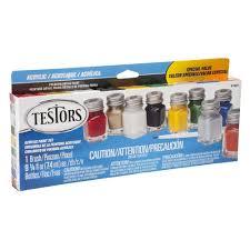 testors 0 25 oz 9 color most popular acrylic paint set 6 pack