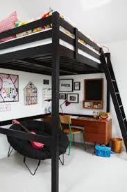 Black Bunk Beds Black Loft Bed With Desk Foter