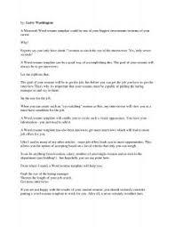 Windows Resume Templates Free Resume Templates Format Microsoft Word Template