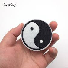 300pcs lot small yin yang iron on patch embroidery sewing diy