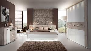 Schlafzimmerschrank Kika 2 Rondino Komplettset In Sandeiche Weiß Hochglanz Mit Led