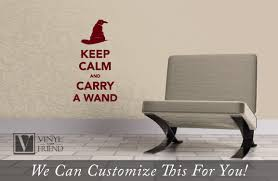 Harry Potter Decor by Keep Calm And Carry A Wand Harry Potter Decor A Vinyl Decal