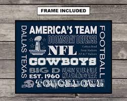 Dallas Cowboys Room Decor Dallas Cowboys Decor Etsy